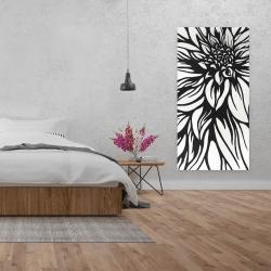 Canvas 24 x 48 - Dahlia flower outline style