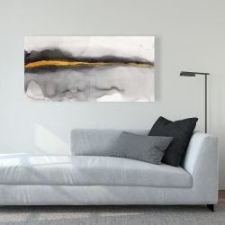 Canvas 24 x 48 - Gold stripe abstract