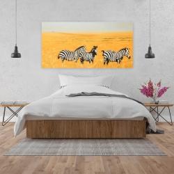 Canvas 24 x 48 - Herd of zebra