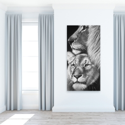 Canvas 24 x 48 - Lion and lioness