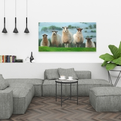 Canvas 24 x 48 - Flock of sheep