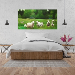 Canvas 24 x 48 - Fields of sheep
