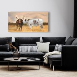 Canvas 24 x 48 - Nguni herd