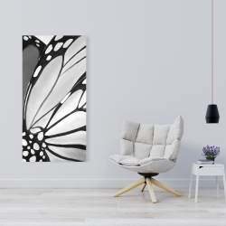 Canvas 24 x 48 - Monarch wings closeup