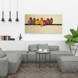 Canvas 24 x 48 - Bird family