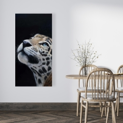 Canvas 24 x 48 - Realistic leopard face