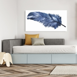 Canvas 24 x 48 - Blue feather