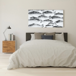 Canvas 24 x 48 - Gray shoal of fish