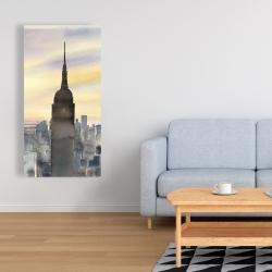 Canvas 24 x 48 - Sunset over new york city