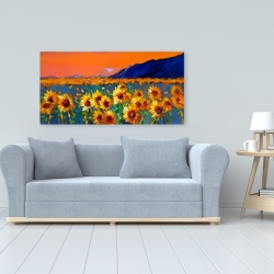 Canvas 24 x 48 - Field of sunflowers