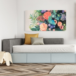 Canvas 24 x 48 - Flowers melody