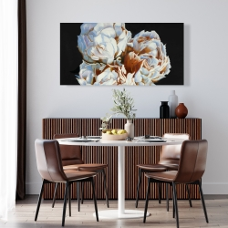Canvas 24 x 48 - Blooming peonies