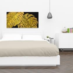 Canvas 24 x 48 - Gold monstera