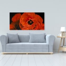 Canvas 24 x 48 - Poppy bouquet