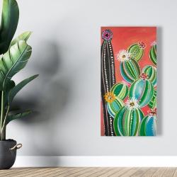 Canvas 24 x 48 - Rainbow cactus
