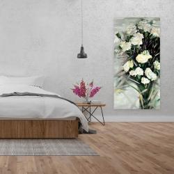 Canvas 24 x 48 - Lisianthus white bouquet