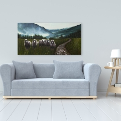 Canvas 24 x 48 - Sheep in the countryside