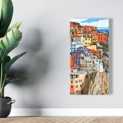 Canvas 24 x 48 - View of manarola in italy