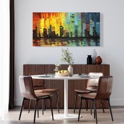 Canvas 24 x 48 - City with color tones