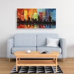 Canvas 24 x 48 - Colorful cityscape
