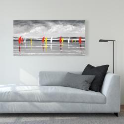 Canvas 24 x 48 - Sailboats on the lake