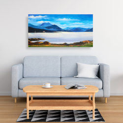 Canvas 24 x 48 - Scottish highlands by a beautiful day