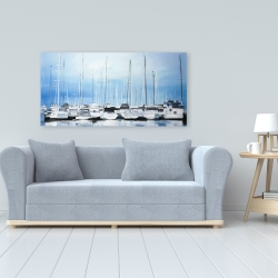 Canvas 24 x 48 - Boats at the dock