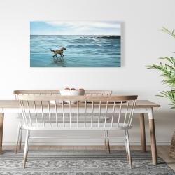 Canvas 24 x 48 - Dog on the beach