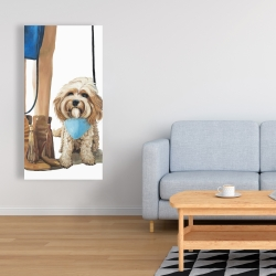 Canvas 24 x 48 - Fashionable cavoodle dog