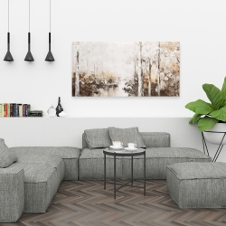 Canvas 24 x 48 - Abstract white forest