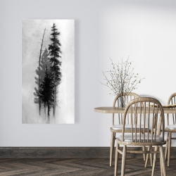 Canvas 24 x 48 - Silhouette of trees