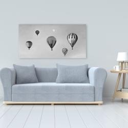 Canvas 24 x 48 - Air balloon landscape