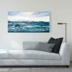 Canvas 24 x 48 - Glaciers in iceland