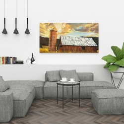 Canvas 24 x 48 - Hay barn