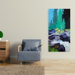 Canvas 24 x 48 - Beautiful waterfall