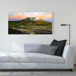 Canvas 24 x 48 - Valley and mountains landscape
