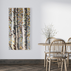Canvas 24 x 48 - Blossoming birches