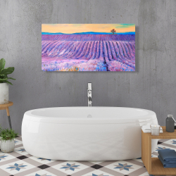 Canvas 24 x 48 - Landscape of a field of lavender