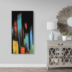 Canvas 24 x 48 - Abstract tall buildings