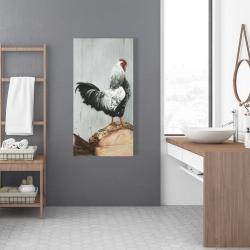 Canvas 24 x 48 - Wyandotte rooster