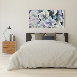 Canvas 24 x 48 - Colorful hydrangea flowers