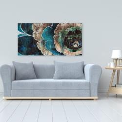 Canvas 24 x 48 - Blue flower montage