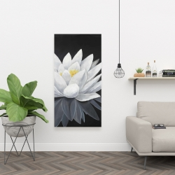 Canvas 24 x 48 - Lotus flower with reflection