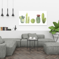 Canvas 24 x 48 - Tiny cactus set