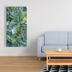 Canvas 24 x 48 - Abstract succulents