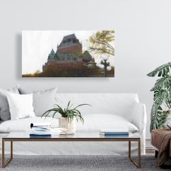 Canvas 24 x 48 - Le château de frontenac in autumn