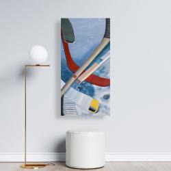 Canvas 24 x 48 - Hockey sticks on ice