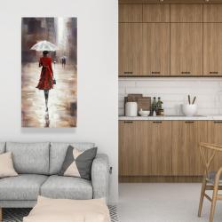 Canvas 24 x 48 - Quiet walk in the rain
