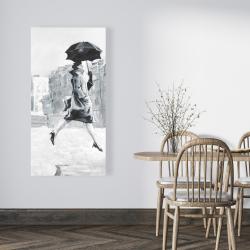 Canvas 24 x 48 - Woman in the rain