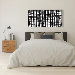 Canvas 24 x 48 - Abstract small stripes